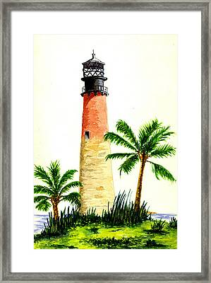 Cape Florida Lighthouse Framed Print by Michael Vigliotti