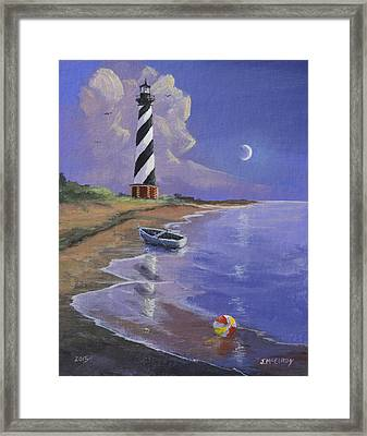 Cape Hatteras Lighthouse Framed Print by Jerry McElroy