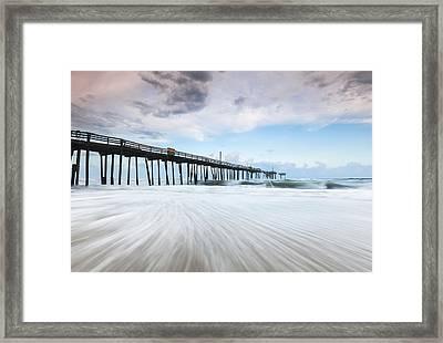 Cape Hatteras Outer Banks Frisco North Carolina Fishing Pier Framed Print by Mark VanDyke