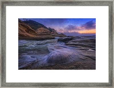 Cape Kiwanda Twilight Framed Print by Rick Berk