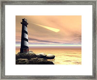Cape Lookout Framed Print by Corey Ford