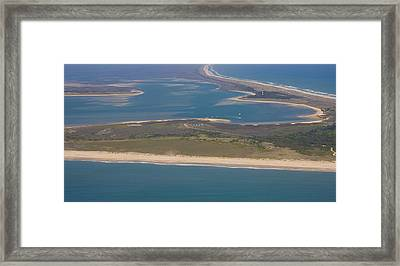 Cape Lookout Lighthouse Distance Framed Print by Betsy Knapp