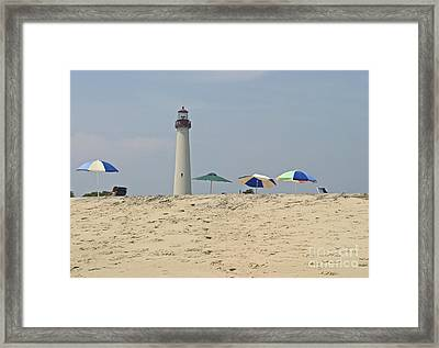Cape May Lighthouse View Framed Print by Andrew Kazmierski