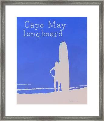 Cape May Longboard Framed Print by Michael DeMusz