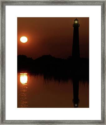 Cape May Moonrise Framed Print by Skip Willits