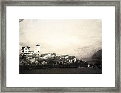 Cape Neddick Light House Framed Print by Sue OConnor