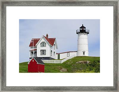 Cape Neddick Light Framed Print by Luke Moore