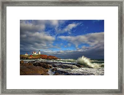 Cape Neddick Lighthouse Framed Print by Rick Berk