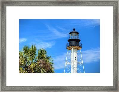 Cape San Blas Lighthouse Framed Print by JC Findley