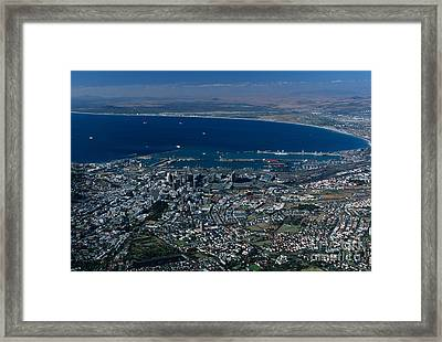 Capetown South Africa Aerial Framed Print by Sandra Bronstein