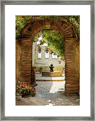 Capistrano Gate Framed Print by Sharon Foster