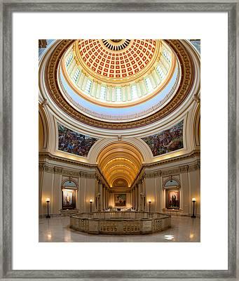 Capitol Interior II Framed Print by Ricky Barnard