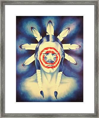 Cap'n Native America Framed Print by Robert Martinez
