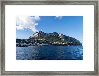 Capri Island From The Sea Framed Print by Georgia Mizuleva
