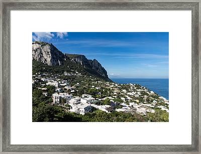 Capri Island Italy Framed Print by Georgia Mizuleva