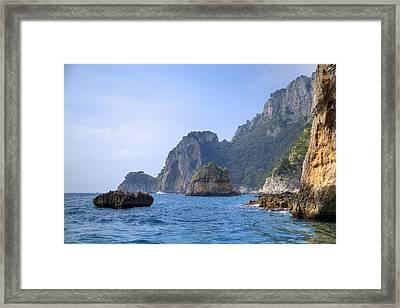Capri - Naples Framed Print by Joana Kruse