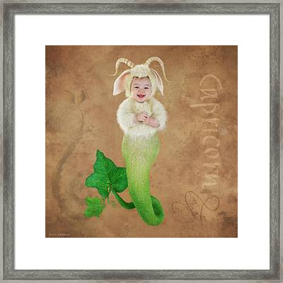 Capricorn Framed Print by Anne Geddes