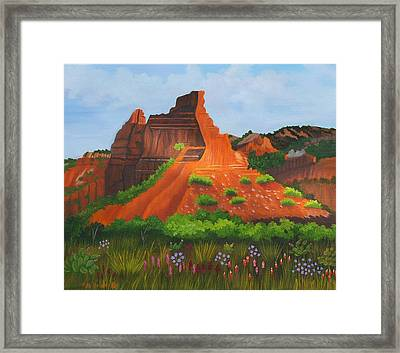 Caprock Canyon Texas Framed Print by Ruth  Housley
