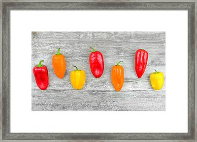 Capsicums Background  Framed Print by Luca Lorenzelli