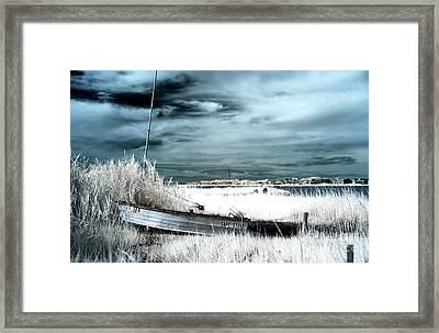 Capt Steve Blue Infrared Framed Print by John Rizzuto