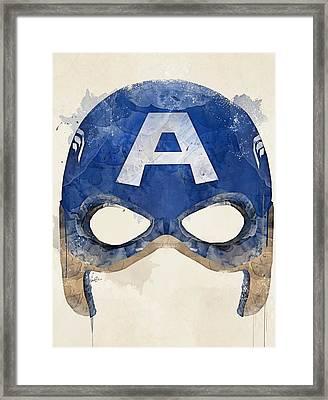 Captain America Framed Print by Bri B