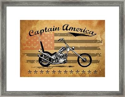 Captain America Framed Print by Mark Rogan