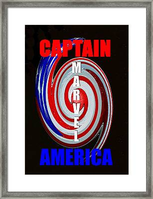 Captain America Poster Spc Work One Framed Print by David Lee Thompson