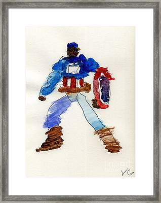 Captain America Framed Print by Vincent Gitto