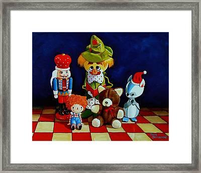 Captain Candycorns Dollhouse Choir Framed Print by Doug Strickland