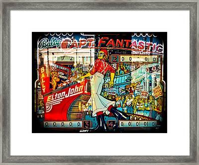 Captain Fantastic - Pinball Framed Print by Colleen Kammerer