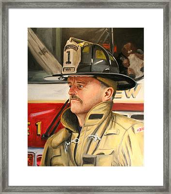 Captain Framed Print by Paul Walsh