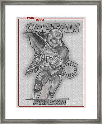Captain Phasma Of The First Order Framed Print by Chris DelVecchio