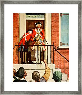 Captain Tennant With The Crowd In Front  Framed Print by Newell Convers Wyeth