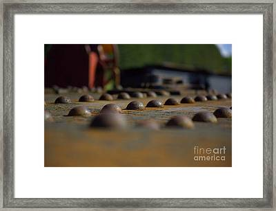 Captivating Riviting Framed Print by The Stone Age