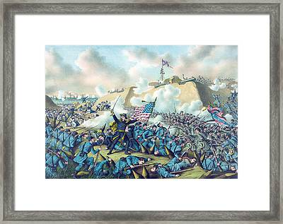 Capture Of Fort Fisher Framed Print by American School