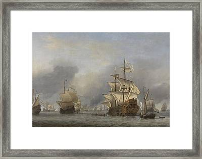 Capture Of The Royal Prince Framed Print by Willem Van De Velde The Younger