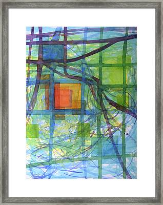 Captured Squares Framed Print by Heidi Capitaine