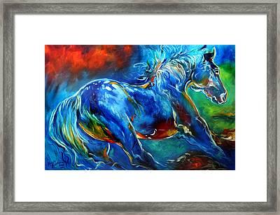Captured Wild Stallion Framed Print by Marcia Baldwin