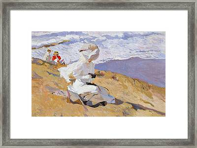 Capturing The Moment Framed Print by Joaquin Sorolla y Bastida