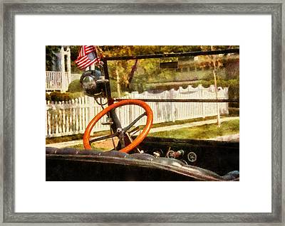 Car - Back To The Old Days Framed Print by Mike Savad