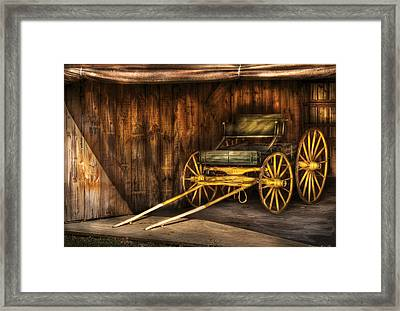 Car - Wagon - The Old Wagon Framed Print by Mike Savad