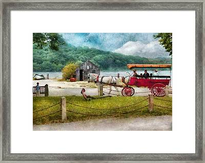 Car - Wagon - Traveling In Style Framed Print by Mike Savad