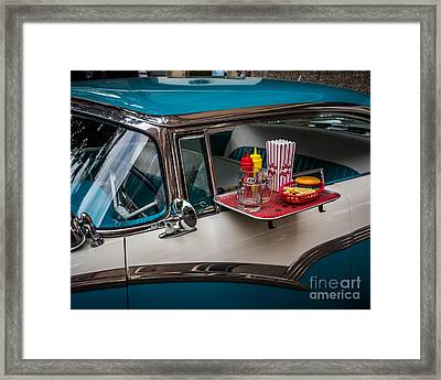 Car Hop Framed Print by Perry Webster