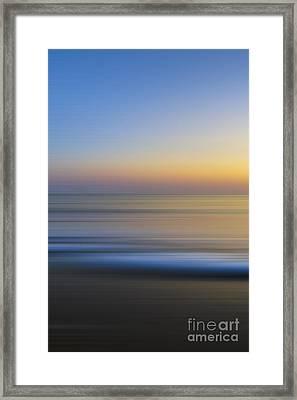 Caramel Dawn - Part 1 Of 3 Framed Print by Sean Davey