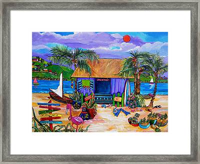 Cara's Island Time Framed Print by Patti Schermerhorn