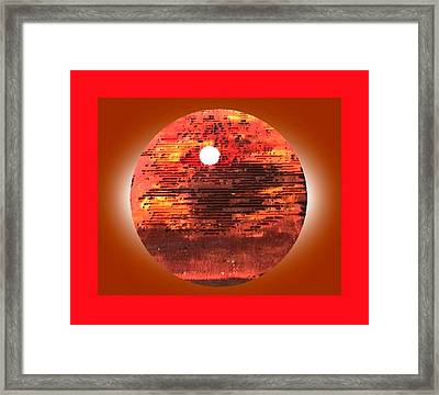 Cardboard Sunset Framed Print by Gabe Art Inc