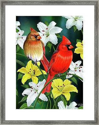 Cardinal Day 2 Framed Print by JQ Licensing