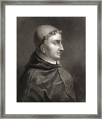 Cardinal Francisco Jimenez De Cisneros Framed Print by Vintage Design Pics
