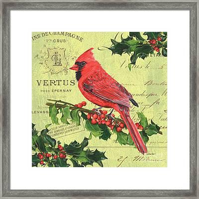Cardinal Peace Framed Print by Debbie DeWitt