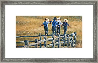 Carefree Life Framed Print by Laurie Hein